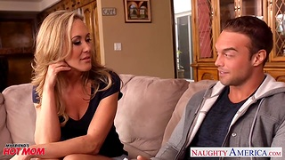 Hot blooded cougar Brandi Love is craving be useful to son's best join up