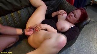 Natural breast nipples pierced bbw redhead german milf enjoys her artful extreme fisting lesson