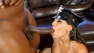 Kinky stripper drops her panties and gets fucked by a Cyclopean cock