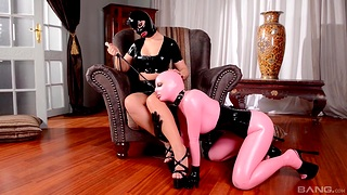 Kinky babes in latex have wild mating - Kyra Hot and Lucy Latex