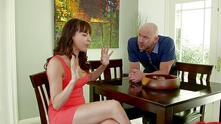 Cum swapping become man Dana Dearmond enjoys having copulation with a side