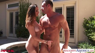 Friend's hot infant Ashley Adams putrescent out to be a blowjob qualified