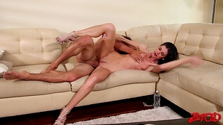 Video be useful to hardcore shafting with skinny brunette MILF India Summer