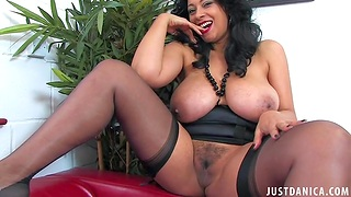 Grim cougar Danica Collins enjoys flashing their way giant boobs