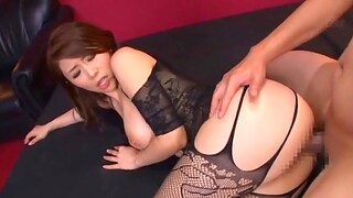 Sexy Japanese pornstar Ayumi Shinoda in underclothes rides several dudes