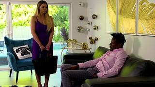 Interracial going to bed with busty big White Chief wife Brooklyn Chase
