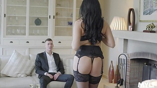 Polish milf in sexy lingerie Ania Kinski is congress love with her new BF