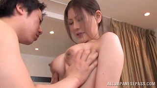 Messy creampie ending after amazing fucking with a Japanese cutie