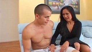 Closeup video of hardcore fucking close by sexy Asian Kitty Langdon