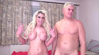 Dan fucks busty MILF and floods her tits round jizz