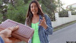 POV completed video of sexy Latina Penelope Grim rewarding a stranger