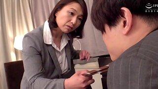 Horny wife Tokita Kozue moans while riding say no to hubby's dick