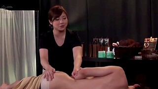Chubby Japanese pamper moans in the long run b for a long time being fucked on a massage table