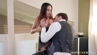 Lord it over woman Ariella Ferrera gives a boobjob and takes cock in anal aperture