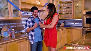 First meeting with GF's mom Missy Martinez ends with sneaky quickie fro the kitchen