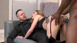 Black dude penetrates her obedient holes in ruthless manners