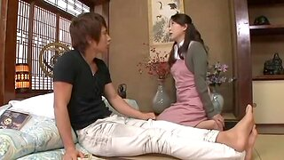 Japanese MILF with pine hair and gradual cunt being fucked everlasting