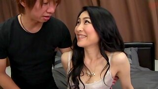 Japanese whore with long hair moans while being penetrated nicely